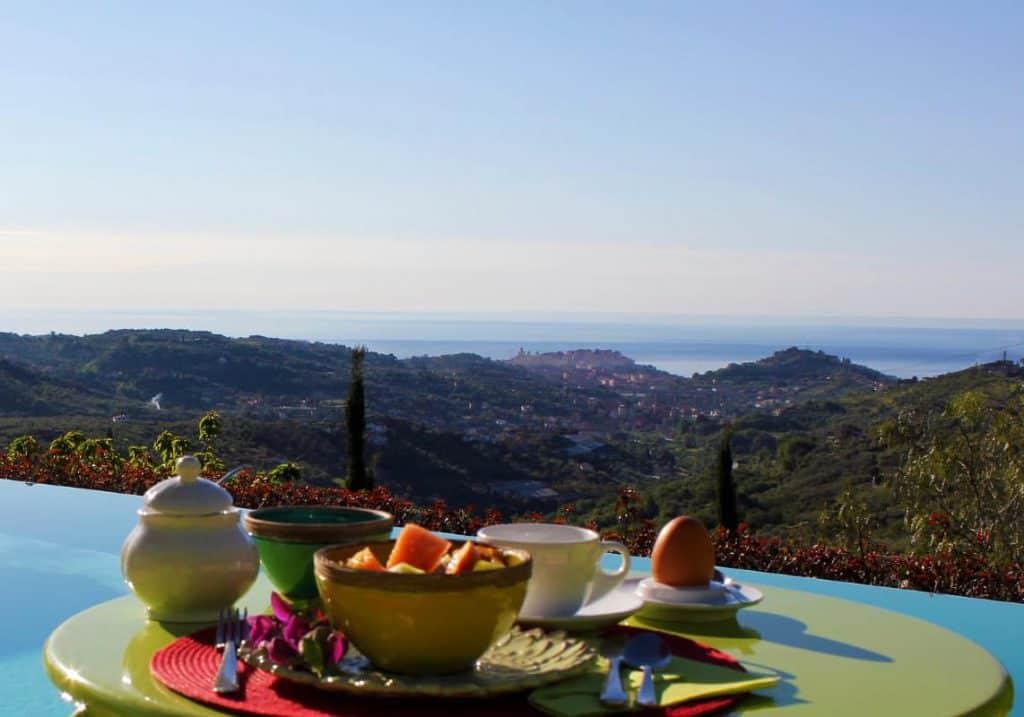 Vista panoramica, Agriturismo Relais San Damian, Imperia, Liguria, Italia