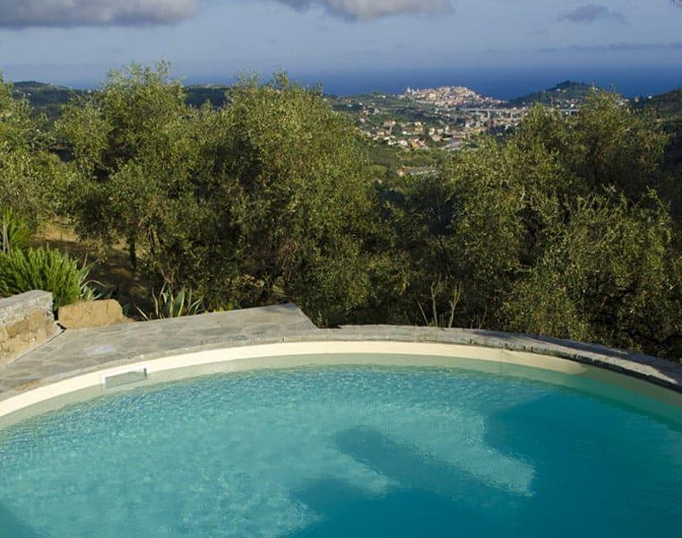 La piscina, Relais San Damian, Imperia, Liguria, Italia